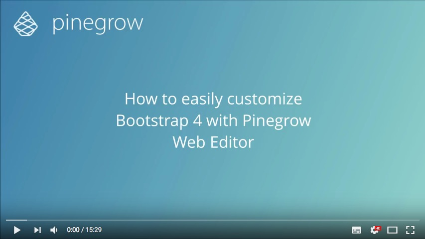 d7b14016ee How to use SASS to customize Bootstrap 4 within the ST2 · Pinegrow ...