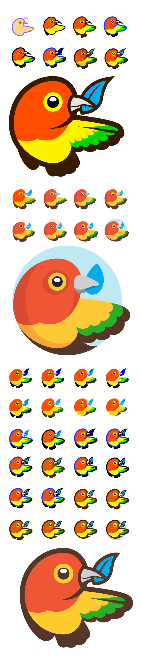 Bower logo iterations