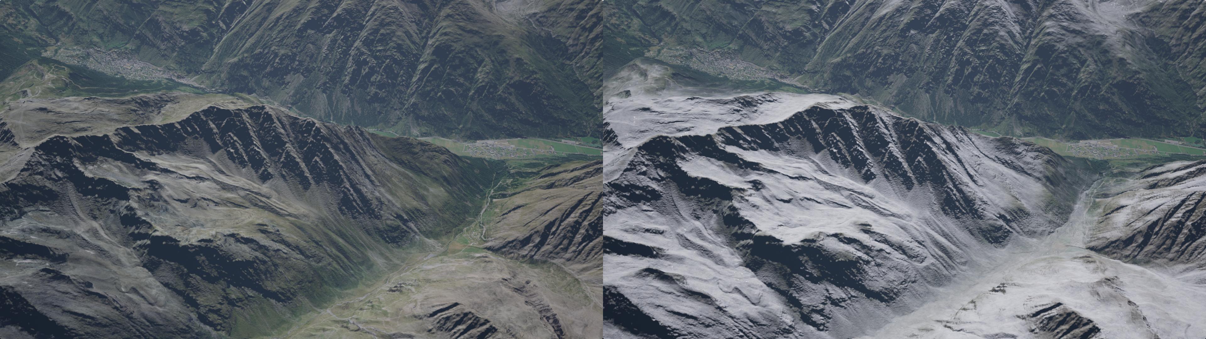 snow comparison