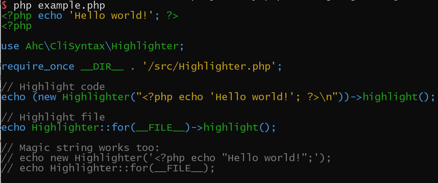 adhocore/cli-syntax