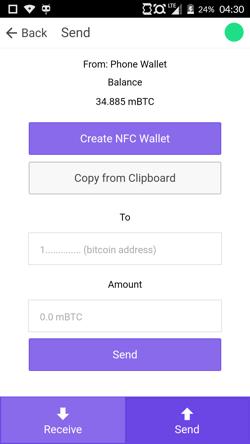 Bitcoin failas, Bitcoin: piniginės kūrimas