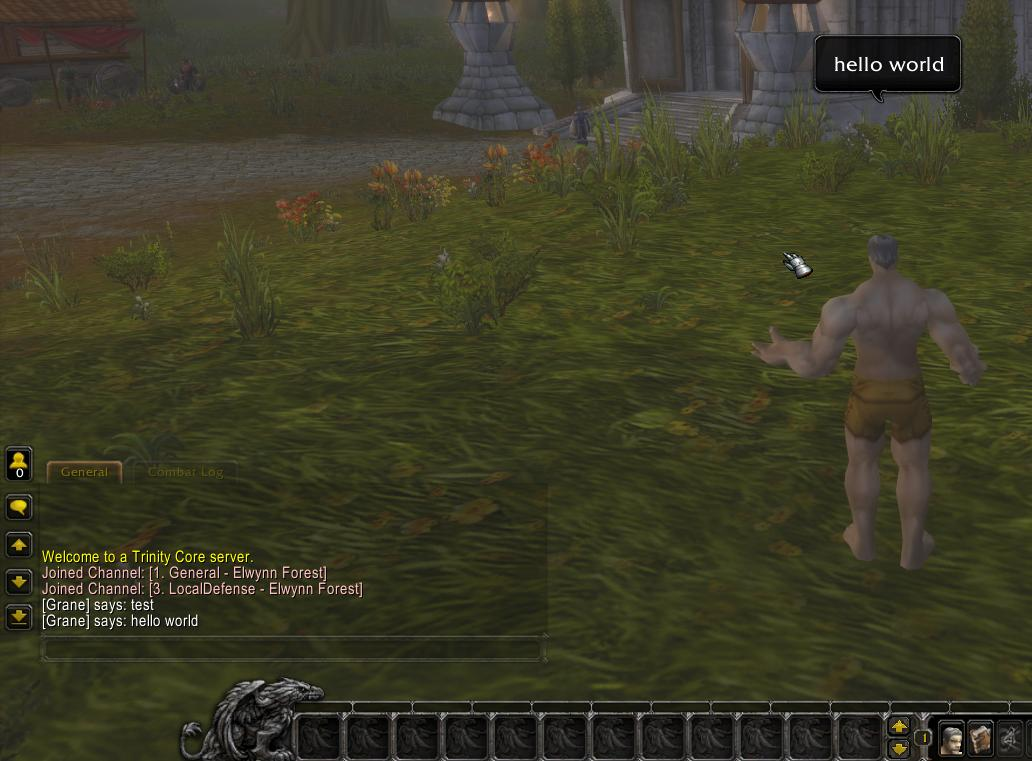 Now able to talk in game with our custom class