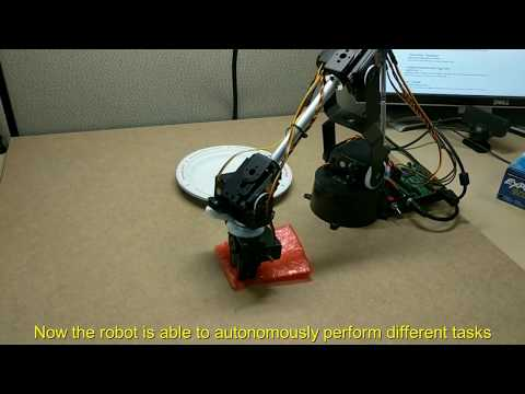 Videos of task demonstration and autonomous performance by a Lynxmotion AL5D robot