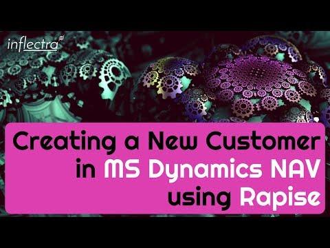 Rapise Creating New Customer in Dynamics NAV