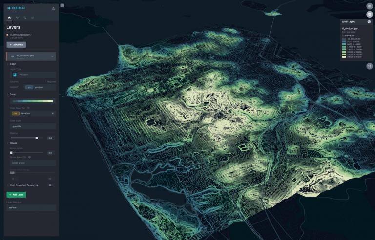 ketoper gl是Uber开源,面向大规模数据集的强大开源地理数据分析