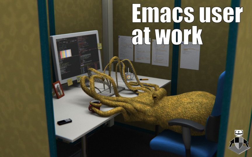 emacs_user_at_work_by_earlcolour