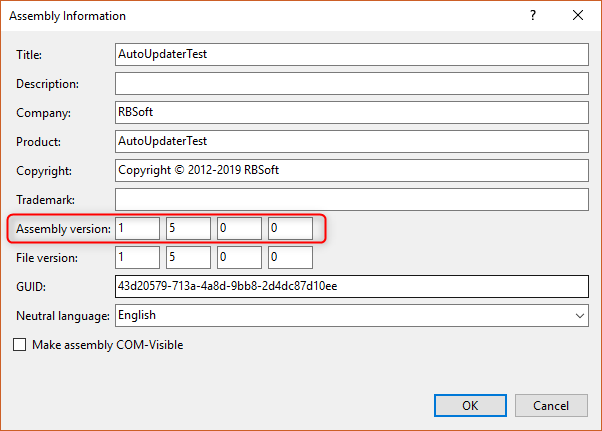 How to change assembly version of your .NET application?