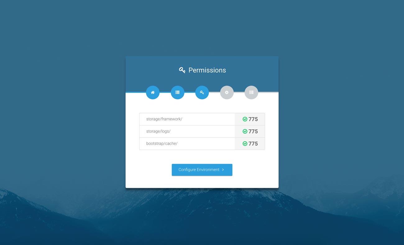 Laravel web installer | Step 3