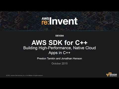 Introducing the AWS SDK for C++