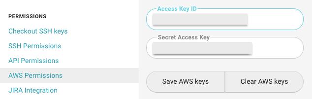Adding AWS credentials