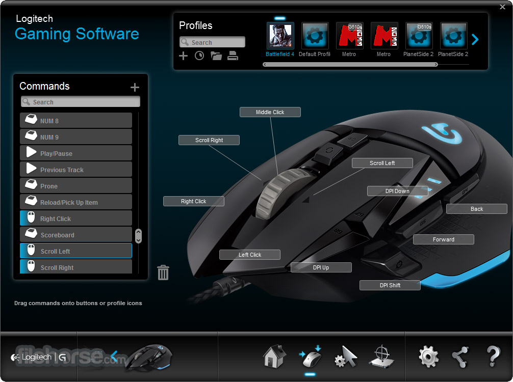 Logitech Gaming Software button mappings