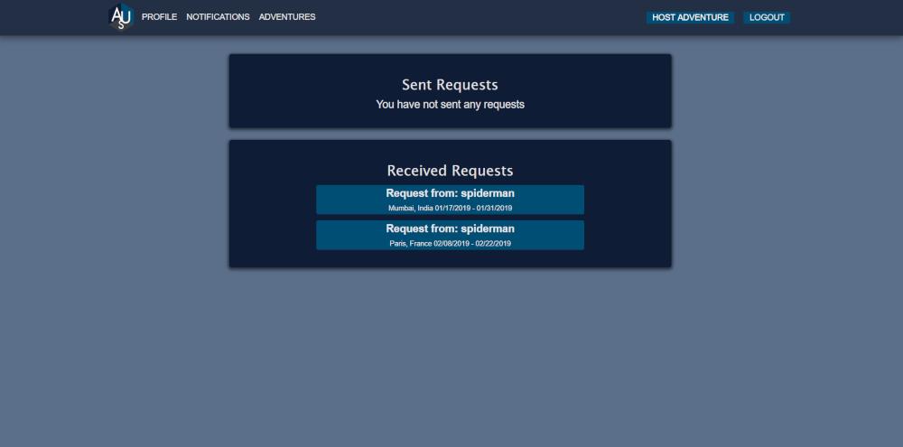 GitHub - dkwok94/AdventureUs_v1: MVP for a social network