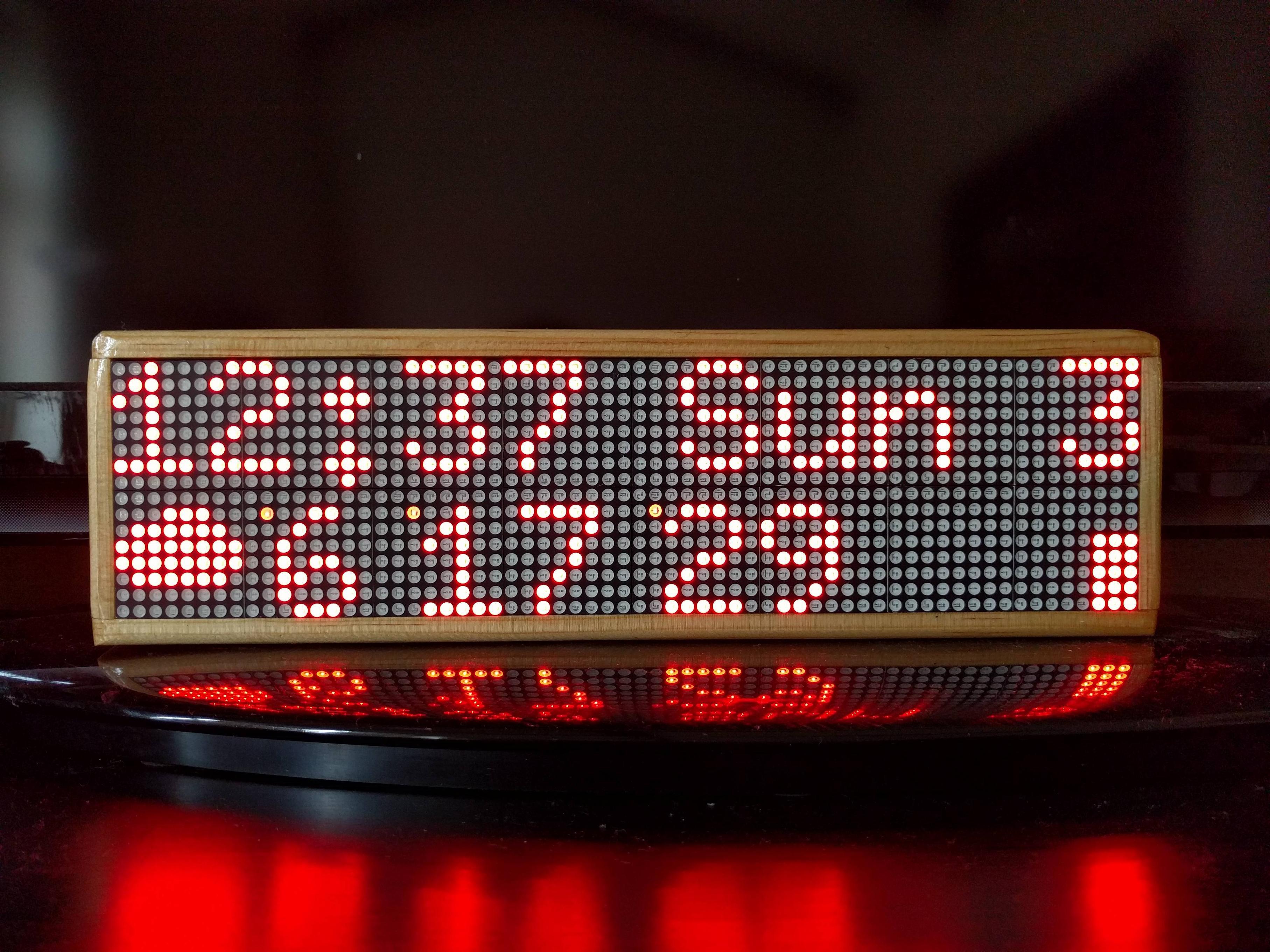 GitHub - lanrat/led-clock: