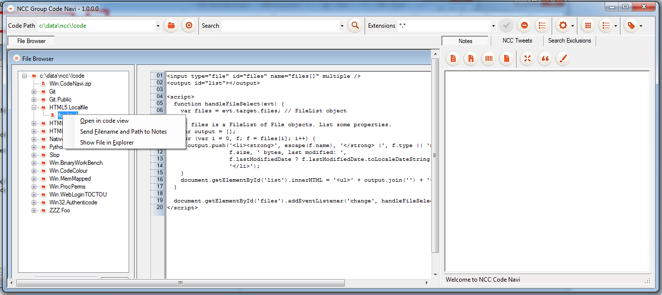 OpeninCodeView