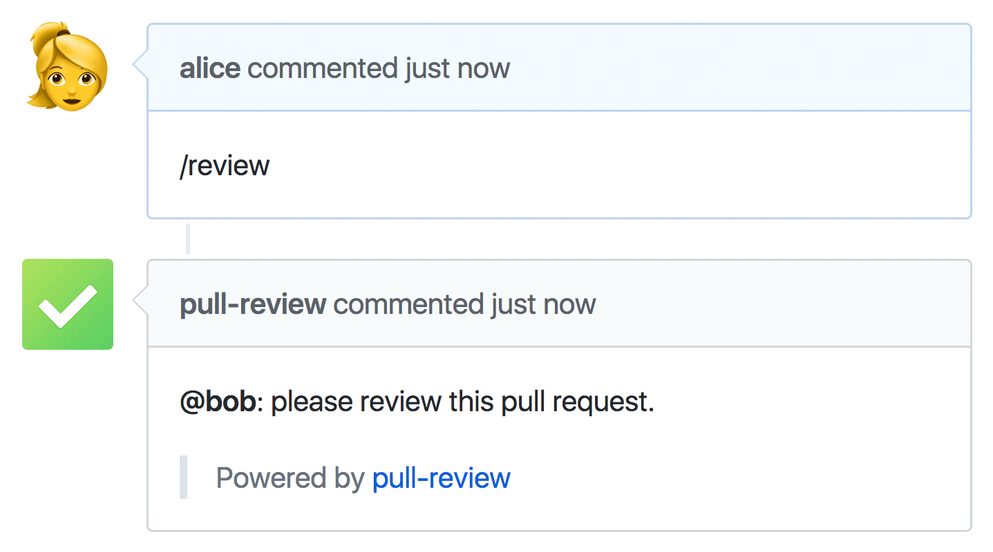Pull Review used with GitHub