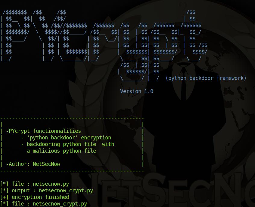 GitHub - xHak9x/PYcrypt: PYcrypt - 'python backdoor' framework