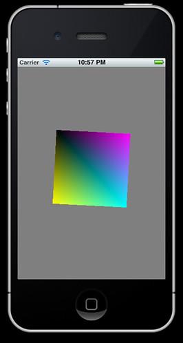 iPhone running OpenGLES sample