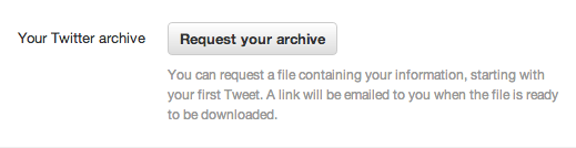 Request your archive