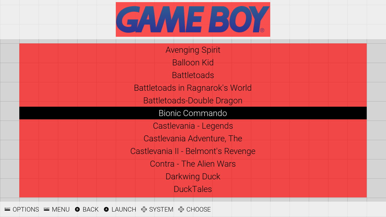 Spare Theme Basic View - Gamelist