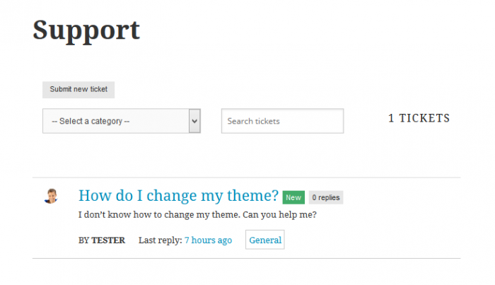 Support System Frontend