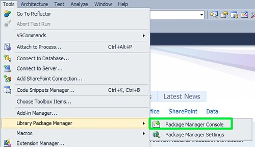 Launching Package Manager Console