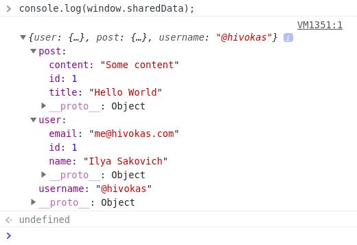 Shared Data in JS
