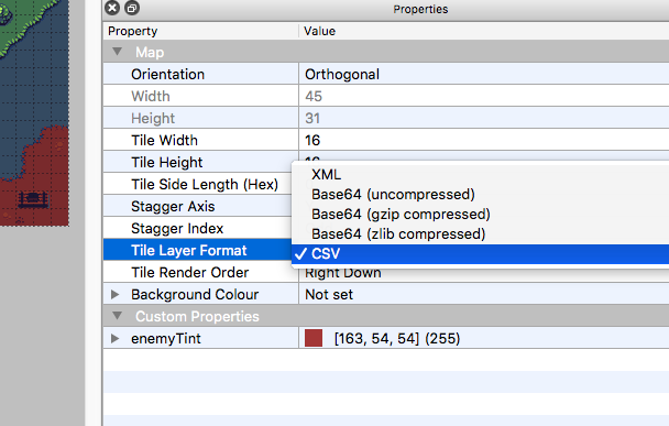 Setting up a CSV layer type