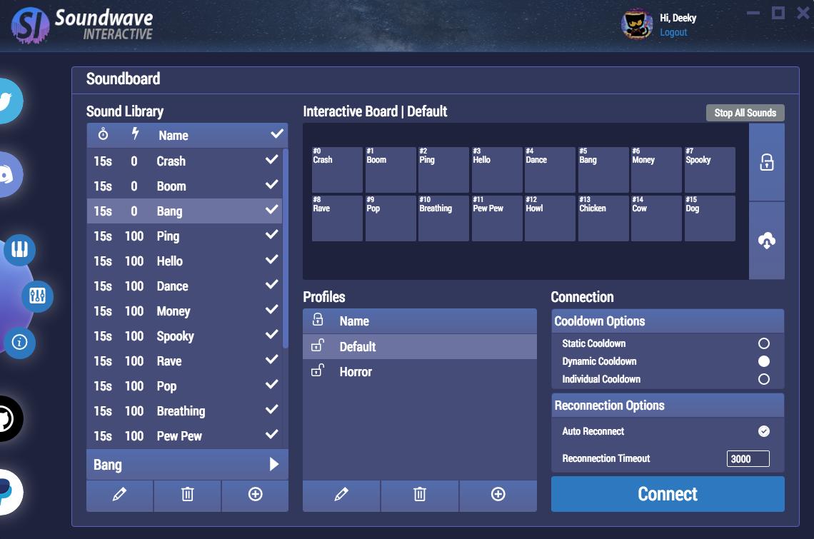 GitHub - DeekyJay/SoundwaveInteractive: Interactive Sound Board for