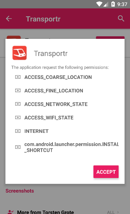 4th step: Install the app!