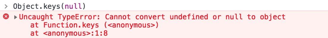 Object.keys(null)