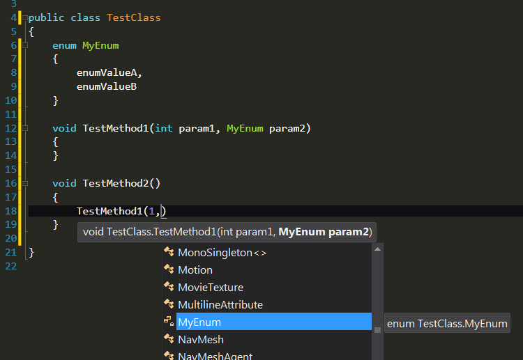 IntelliSense: Autocomplete to offer known types as VSPro