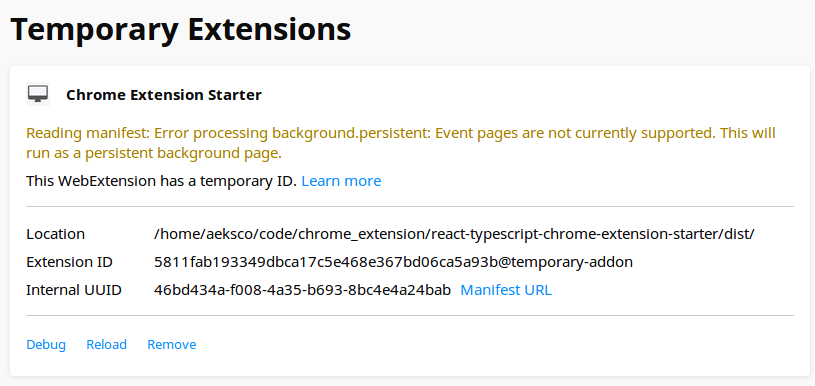 Installed Extension in Mozilla Firefox