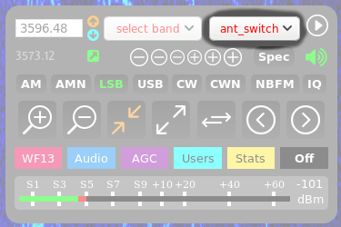 ant switch extension user interface launch