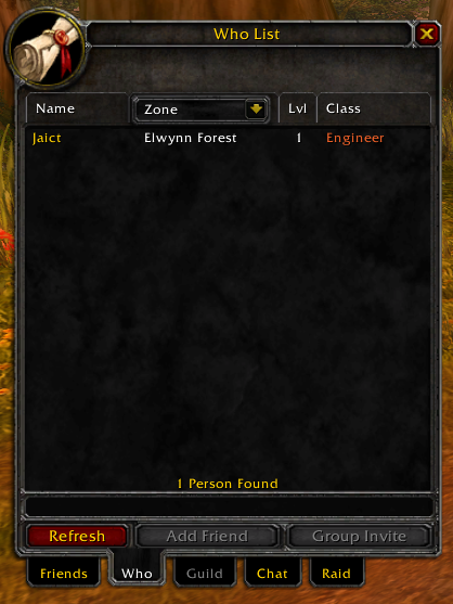 Who list in Friends Frame working with custom class