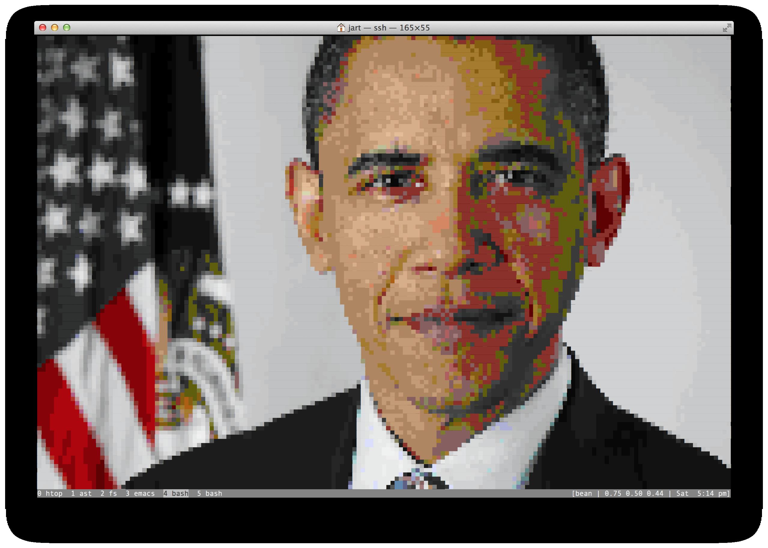 Obama in Macterm