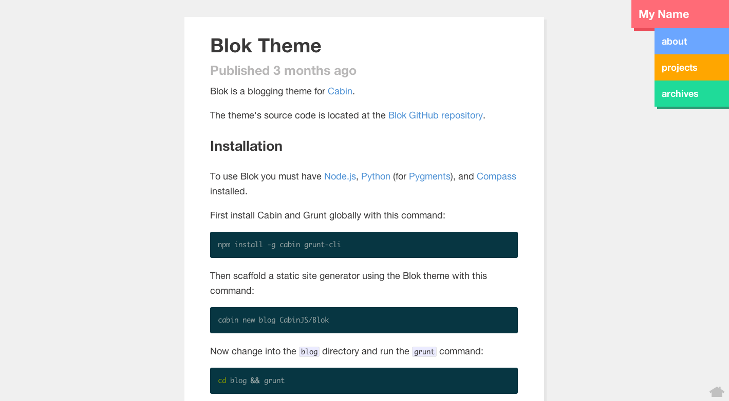 Blok Theme