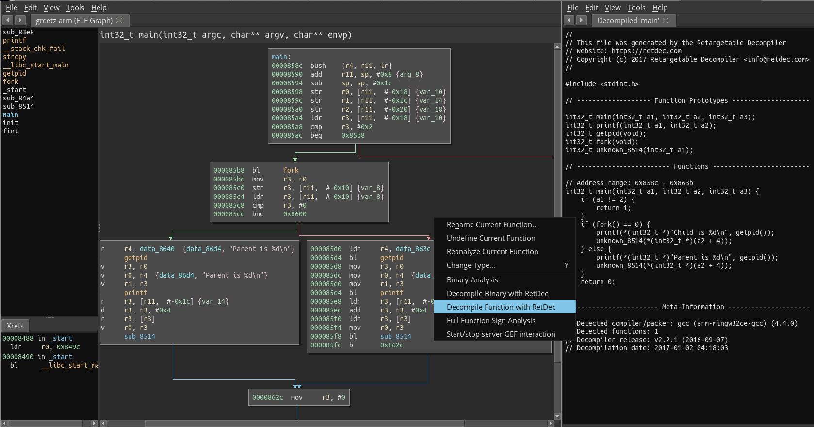 GitHub - hugsy/binja-retdec: Binary Ninja plugin to