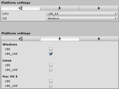 Plugin settings for x86_64 DLLs