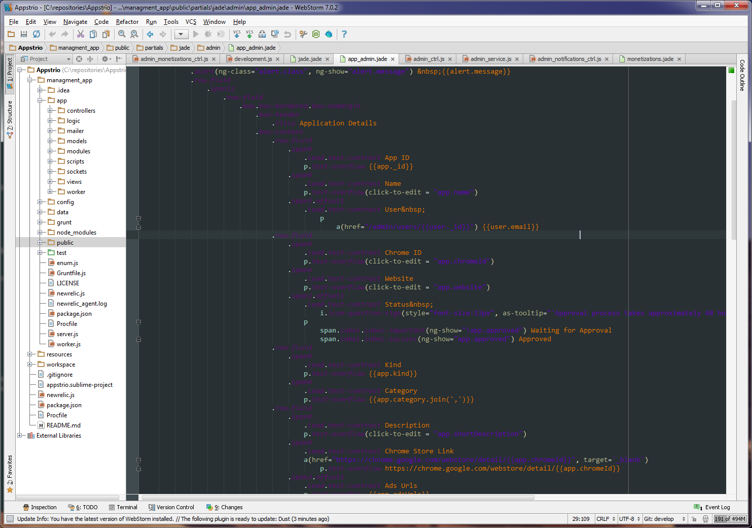 On webstorm IDE - jade files are unreadable using the
