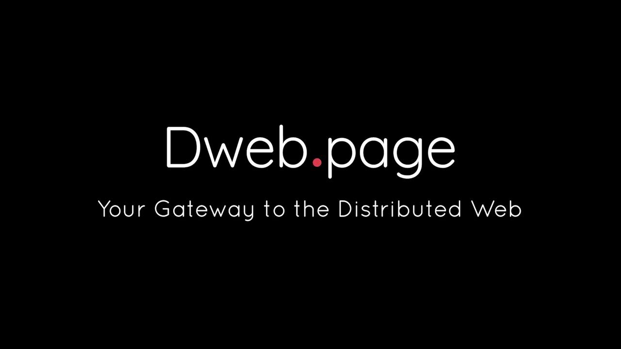 Dweb.page youtube