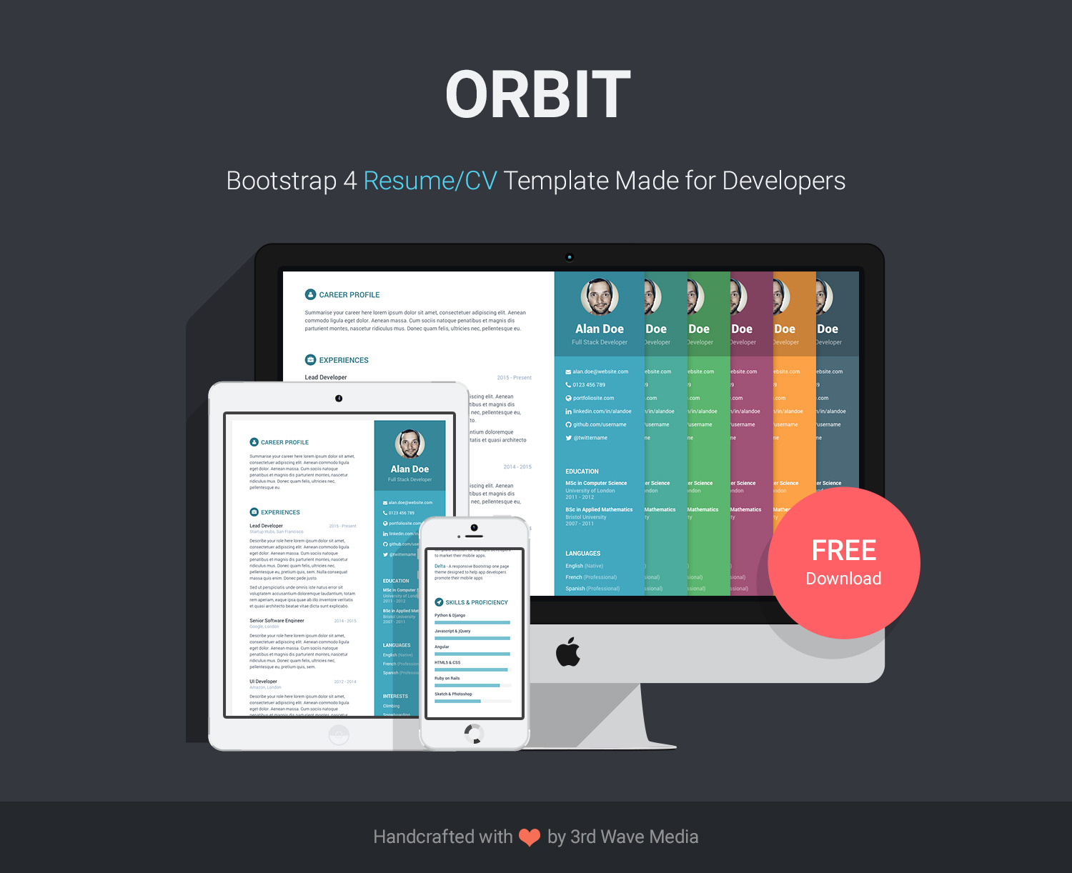 github  orbit cv template for developers