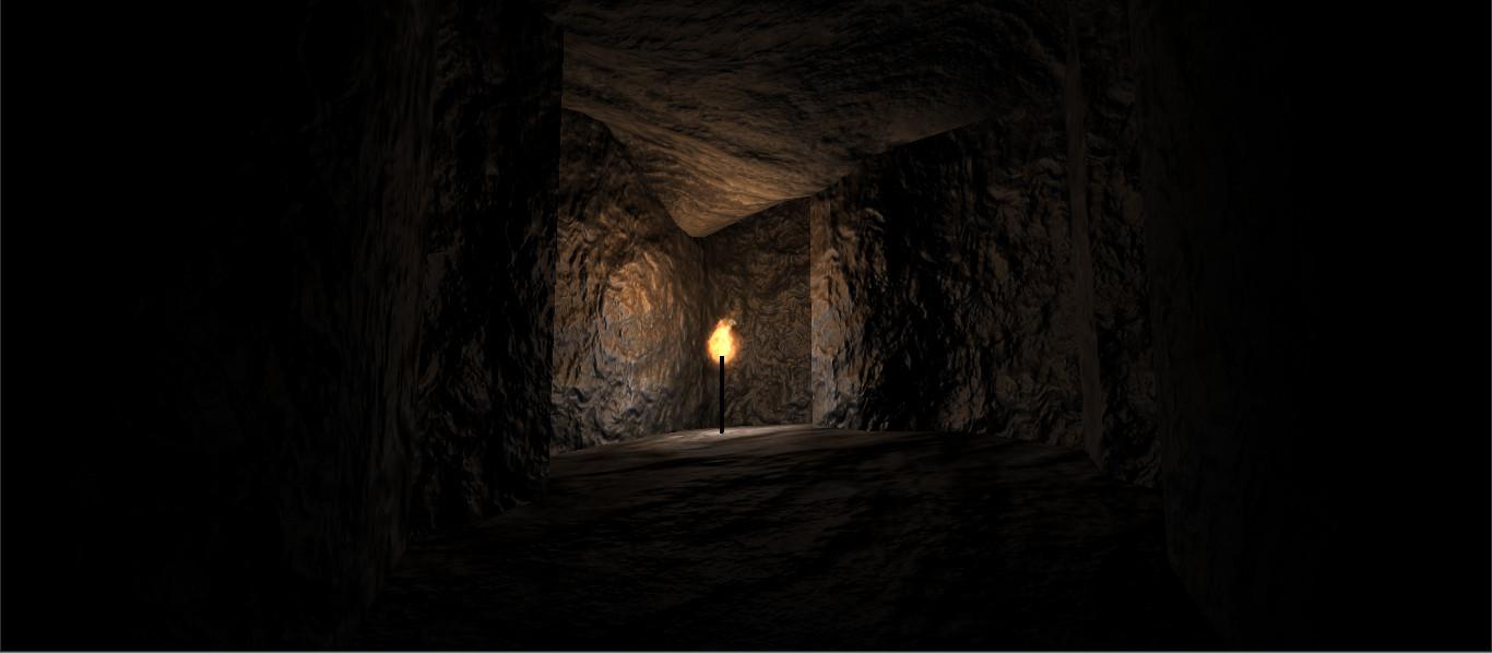 Enclosed cave
