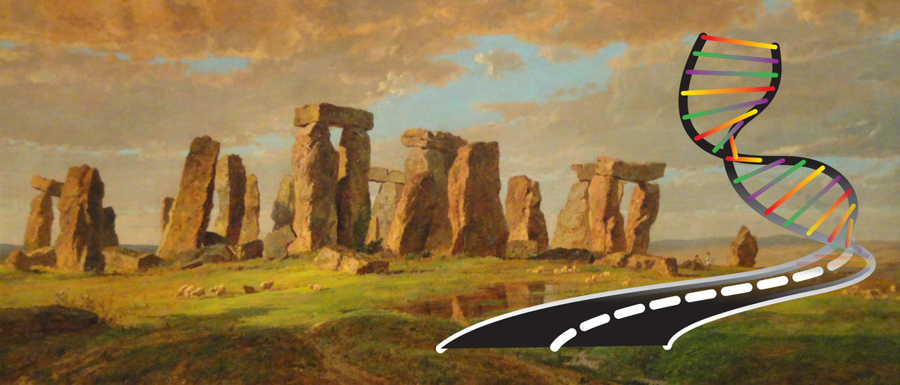 Stonehenge, assembled from a variety of sources over an extended period of time