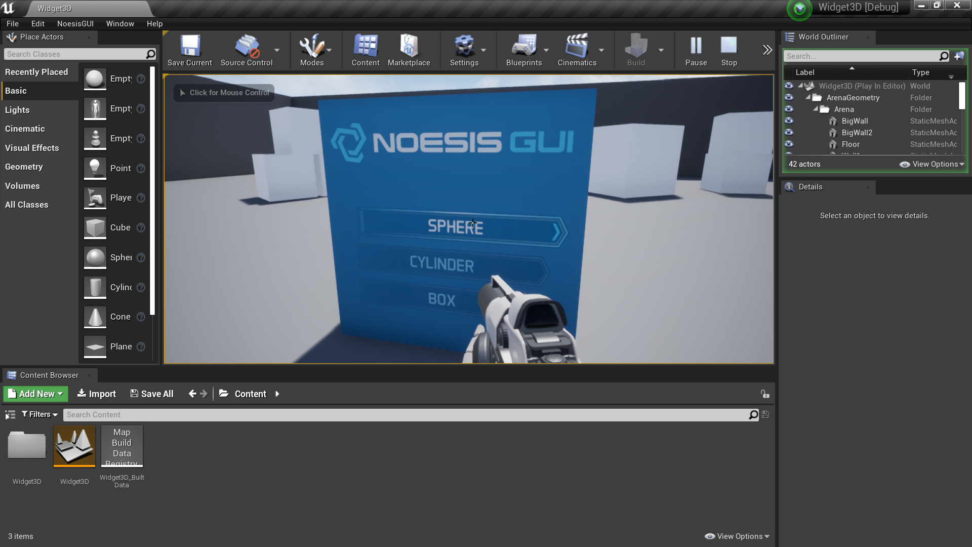 Tutorials/Samples/Widget3D/UE4 at master · Noesis/Tutorials