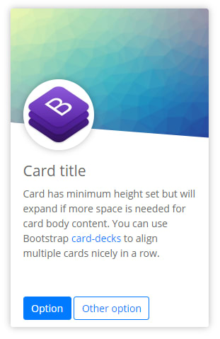 Bootstrap 4 card