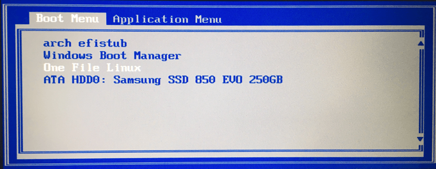 ThinkPad X220 boot menu
