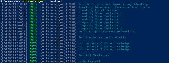 Activeledger Create Testnet