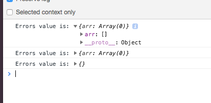 FieldArray remove helper can set error state to empty array