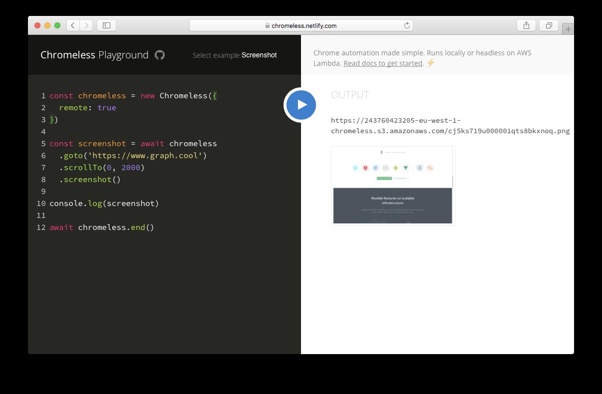 GitHub - prisma-archive/chromeless: 🖥 Chrome automation