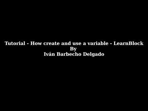 Tutorial about how create a variables and how use these